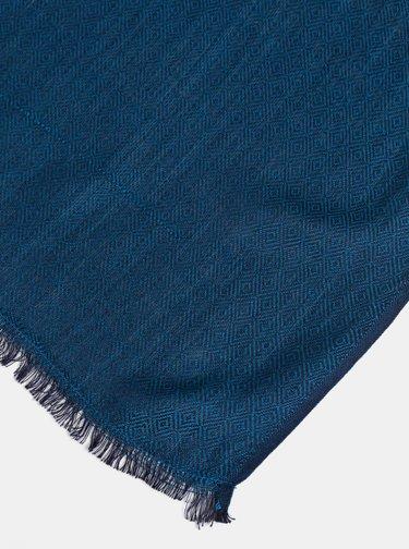 Modrá vzorovaná šála Pieces Tretti