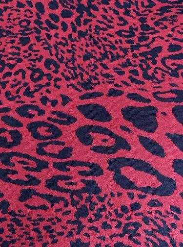 Modro-růžová šála s leopardím vzorem Pieces Koa