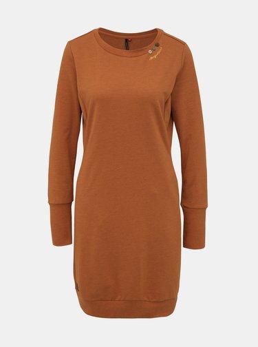 Hnědé mikinové šaty Ragwear Menita