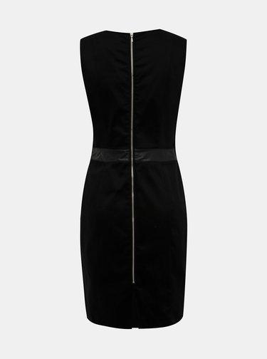 Fialovo-černé pouzdrové šaty s.Oliver