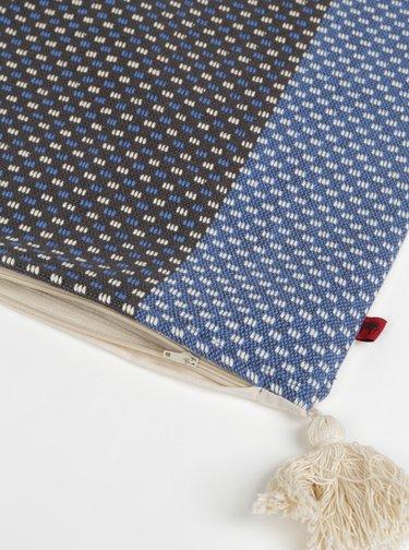 Modro-šedý vzorovaný povlak na polštář Tranquillo Jens