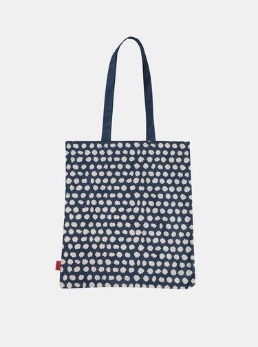 Modrá vzorovaná plátěná taška Tranquillo Dots