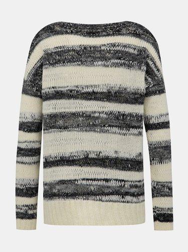 Černo-krémový dámský svetr s příměsí vlny s.Oliver