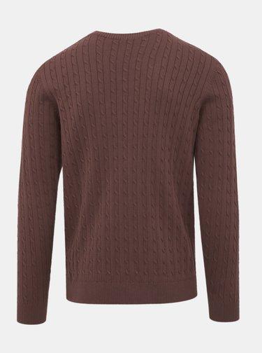 Tmavohnedý sveter Selected Homme Clayton