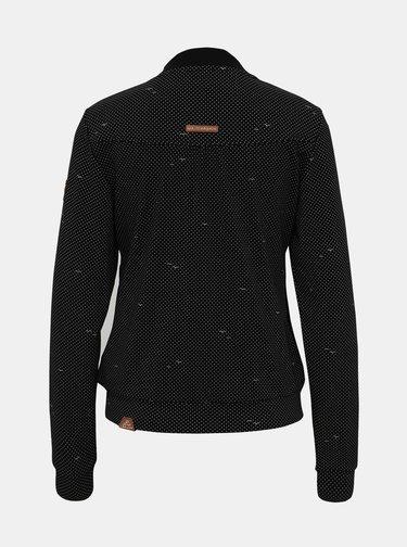 Černá dámská puntíkovaná mikina Ragwear Kenia