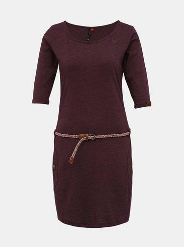 Fialové šaty s páskem Ragwear Tanya