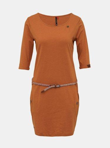 Hnědé šaty s páskem Ragwear Tanya