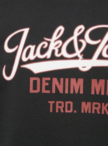 Černá mikina s potiskem Jack & Jones