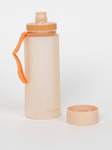 Oranžová plastová fľaša EQUA 600 ml