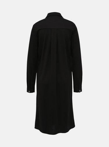 Čierne košeľové šaty VILA Safina
