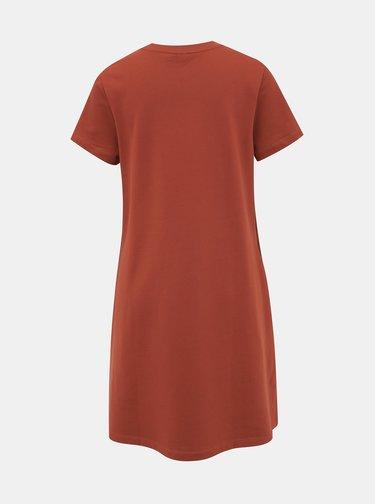 Tehlové basic šaty Noisy May Luni
