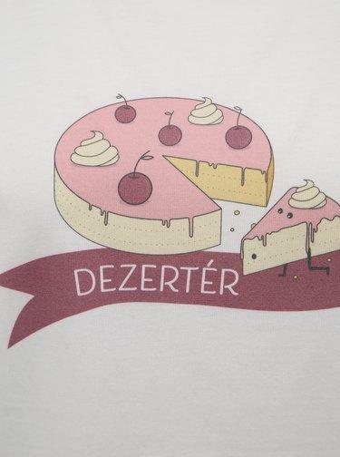 Bílé dámské tričko s potiskem ZOOT Original Dezertér