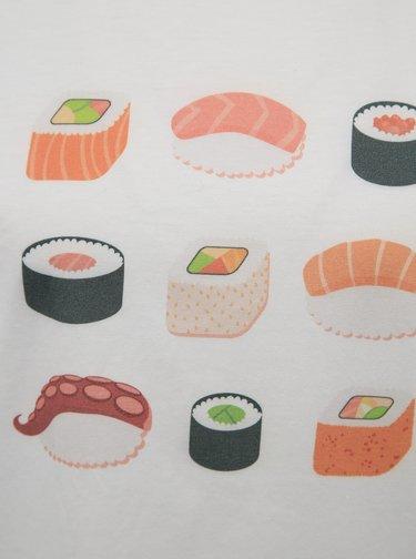Bílé dámské tričko s potiskem ZOOT Original Sushi