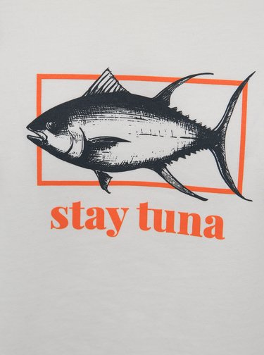 Bílé tričko s potiskem ZOOT Original Stay tuna