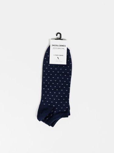 Tmavě modré vzorované ponožky Jack & Jones Fast