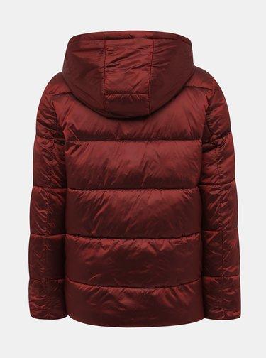 Vínová prošívaná zimní bunda ONLY Niaomi