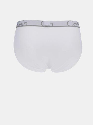 Biele slipy s logom na hornom leme Calvin Klein