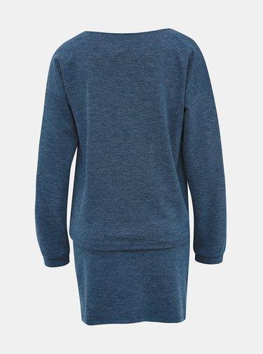 Modré mikinové šaty Vero Moda Nora