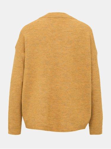 Hnedý basic sveter VERO MODA Rana