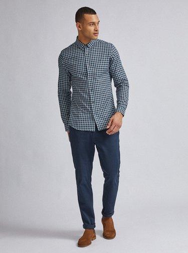 Zelená kostkovaná slim fit košile Burton Menswear London