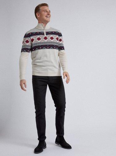 Krémový svetr s norským vzorem Burton Menswear London