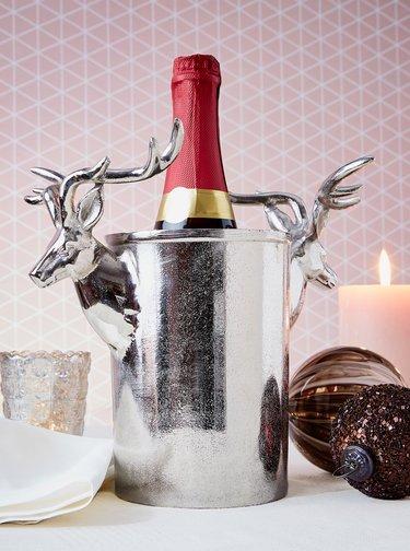 Nádoba na chlazení lahví ve stříbrné barvě BUTLERS
