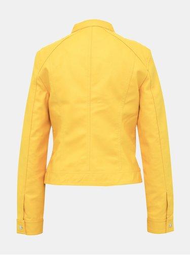 Žlutá koženková bunda VERO MODA Sheena