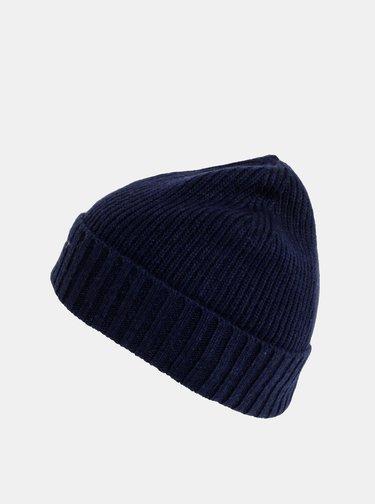 Tmavě modrá vlněná čepice GANT