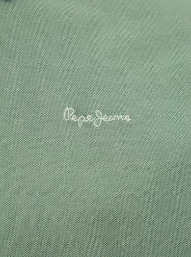 Svetlozelená pánska polokošeľa Pepe Jeans Roco