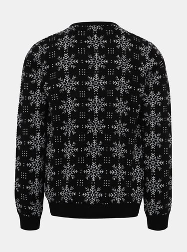 Čierny sveter s vianočným motívom Lindbergh