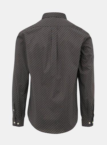 Šedá puntíkovaná slim fit košile Lindbergh