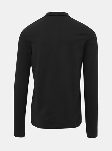 Černé basic polo tričko Selected Homme Milano