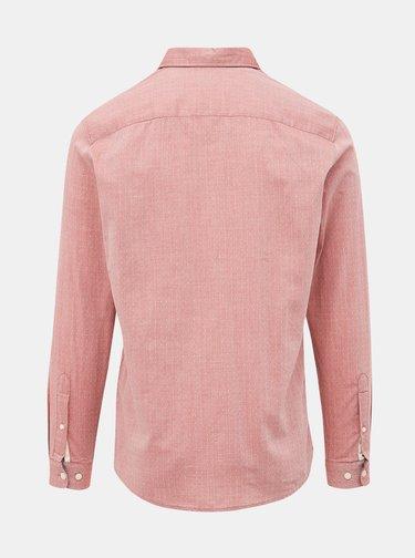 Růžová vzorovaná slim fit košile Selected Homme Harper
