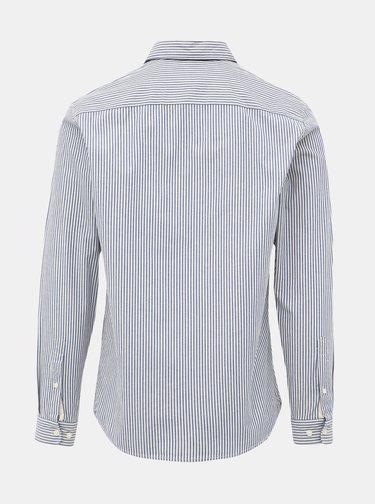 Svetlomodrá pruhovaná slim fit košeľa Selected Homme Harper