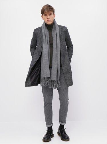 Šedý vlnený kabát Selected Homme Brove