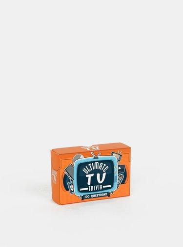 Sada karet s otázkami o televizi v anglickém jazyce Gift Republic TV