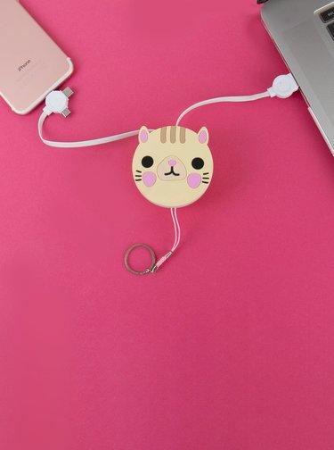 USB redukce ve tvaru kočky Gift Republic Android / Type C / iOS
