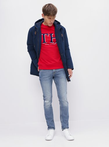 Modré slim fit rifle Tommy Hilfiger