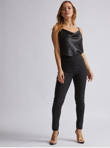 Čierne skinny fit nohavice Dorothy Perkins Petite