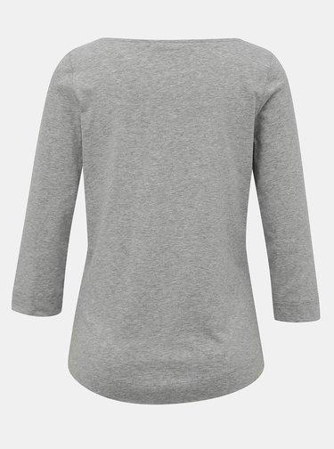 Šedé dámské basic tričko s 3/4 rukávem Tommy Hilfiger