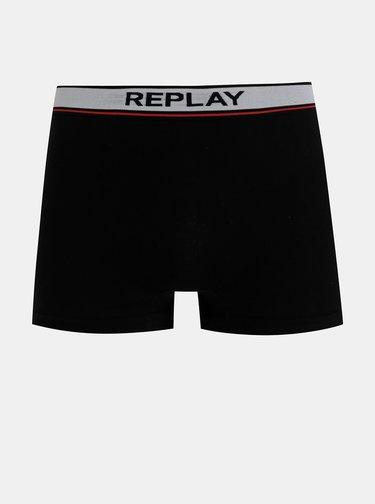 Sada dvoch boxeriek v čiernej a šedej farbe Replay
