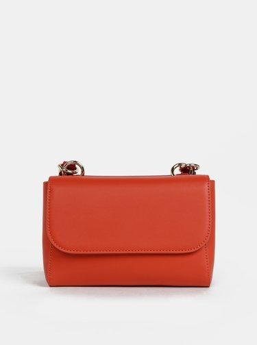 Oranžovo-červená crossbody kabelka Tommy Hilfiger