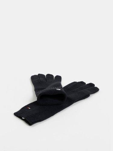 Tmavě modré dámské rukavice s příměsí vlny Tommy Hilfiger