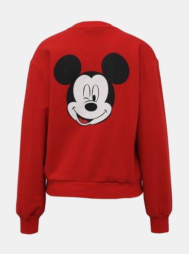 Červená mikina s potiskem TALLY WEiJL Disney Mickey