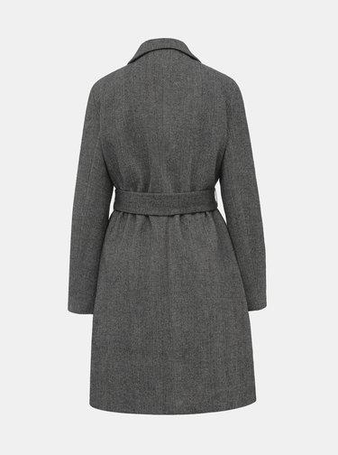 Tmavošedý kabát s prímesou vlny TALLY WEiJL Fradi