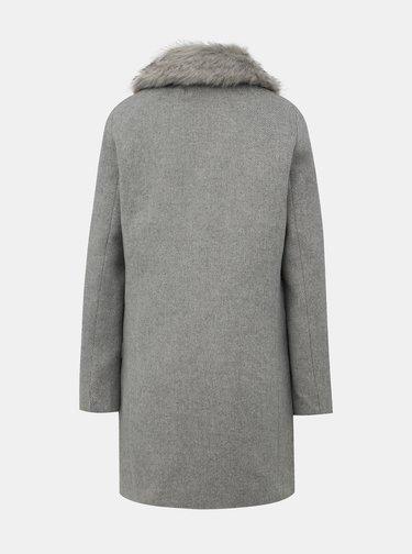 Šedý kabát s příměsí vlny TALLY WEiJL Fati