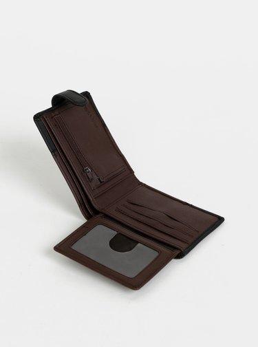 Čierno-hnedá pánska peňaženka Rip Curl Clip Cut