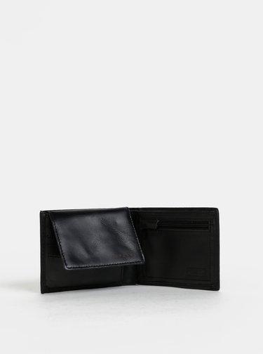 Čierna pánska kožená peňaženka s odnímateľným púzdrom Rip Curl Laser