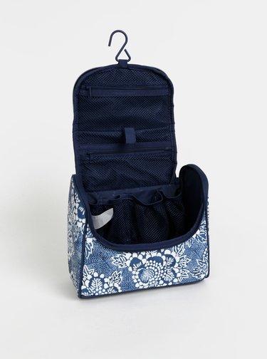 Modrá vzorovaná cestovní kosmetická taštička Rip Curl F-Light