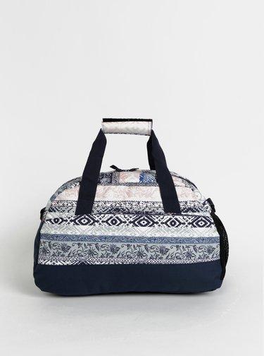 Rúžovo-modrá dámska vzorovaná športová taška Rip Curl Gym Bag